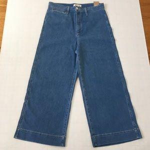 Madewell Emmett High Rise Wide Leg Crop Jeans Sz31